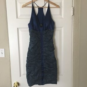 Nicole Miller size 8 navy blue cocktail dress